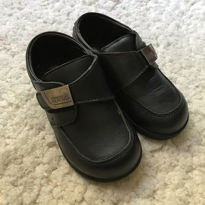 Kenneth Cole : Black Leather TINY FLEX Boys Shoes